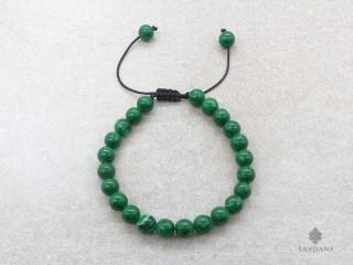 BrMala314 Bracelet Mala de Prières Tibétain Malachite