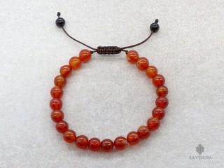 BrMala321 Bracelet Mala de Prières Tibétain Cornaline