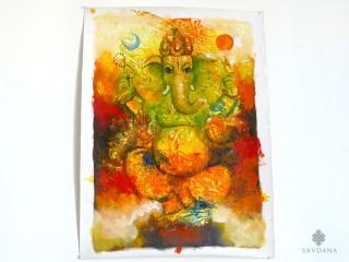 PNT29 Peinture Tibétaine Ganesh
