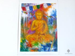 PNT30 Peinture Tibétaine Bouddha