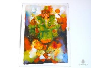 PNT31 Peinture Tibétaine Ganesh