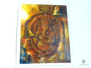 PNT32 Peinture Tibétaine Ganesh
