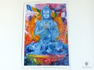 PNT34 Peinture Tibétaine Bouddha