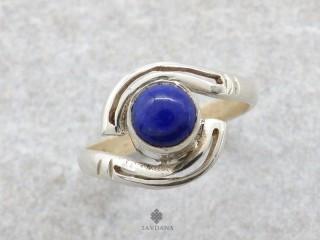 BA225 Bague Argent Massif Lapis Lazuli. Taille 56