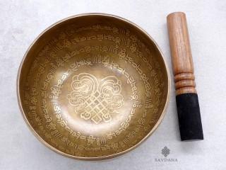 BC108 Bol Chantant Tibétain Mantra Noeud Sans Fin
