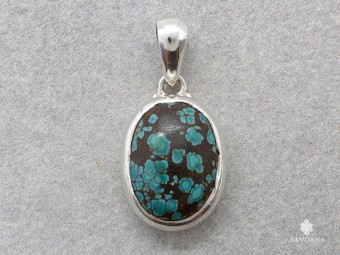 PA650 Pendentif Argent Massif Turquoise