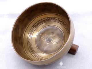 BC99 Bol Chantant Tibétain Mantra Noeud Sans Fin Yeux de Bouddha