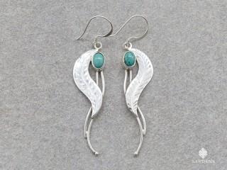 BdOA236 Boucles d'Oreille Argent Massif Turquoise