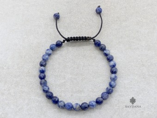 BrMala382 Bracelet Mala Sodalite