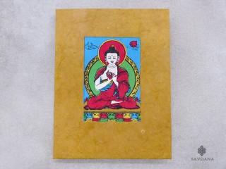CrA221 Carnet Artisanal Népalais Bouddha