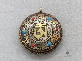 P86 Pendentif Tibétain Mantra Kalachakra