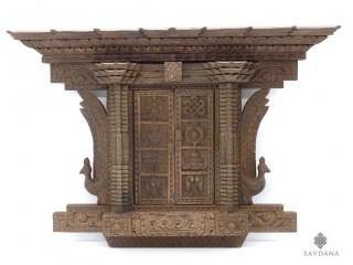 Div96 Porte Népalaise Traditionnelle Astamangala