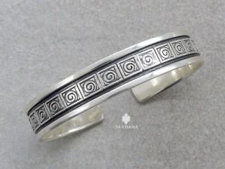 BrA13 Bracelet Tibétain Argent Massif