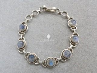 BrA126 Bracelet Argent Massif Pierre de Lune