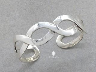 BrA110. Bracelet Tibétain Argent Massif