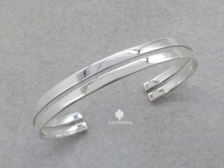 BrA111 Bracelet Tibétain Argent Massif