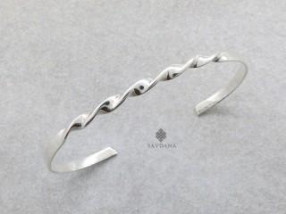 BrA127 Bracelet Tibétain Argent Massif