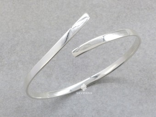 BrA130 Bracelet Tibétain Argent Massif