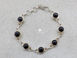 BrA136 Bracelet Argent Massif Onyx