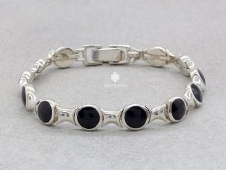 BrA138 Bracelet Argent Massif Onyx