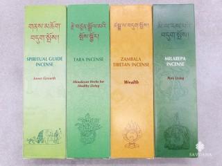 Ens31 Lot de 4 Boites d'Encens Tibétain