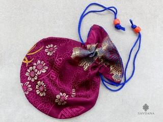 PochTib49 Petite Pochette Tibétaine pour Mala