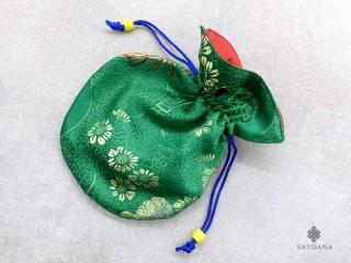 PochTib84 Petite Pochette Tibétaine pour Mala