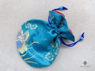 PochTib87 Petite Pochette Tibétaine pour Mala