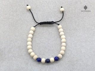BrMalaEnfant03 Bracelet Mala Bois Lapis Lazuli