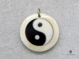 P118 Pendentif Tibétain Yin Yang