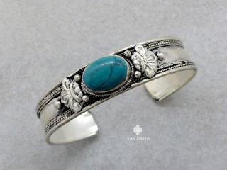 BrD238 Bracelet Tibétain Turquoise