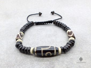 BrD217 Bracelet Tibétain Os de Buffle