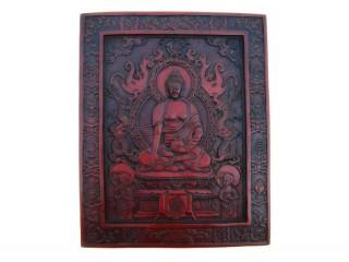 Div24 Plaque Bouddha Astamangala Dragon