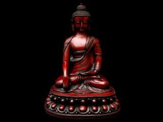 St24 Statue Bouddha Astamangala Signes Auspicieux du Bouddhisme
