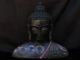 St34 Statue Bouddha Signes Auspicieux Mantra