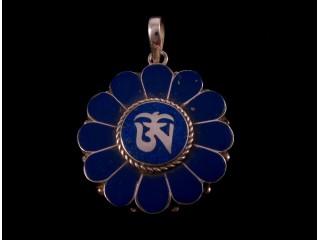 PA197 Pendentif Argent Massif Om Tibétain