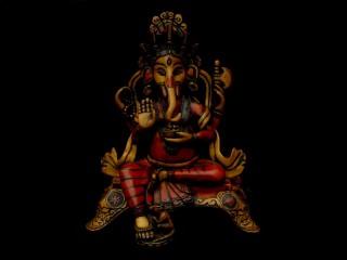 St51 Statue Ganesh Signes Auspicieux du Bouddhisme Astamangala