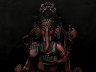 St57 Statue Ganesh Signes Auspicieux du Bouddhisme Astamangala