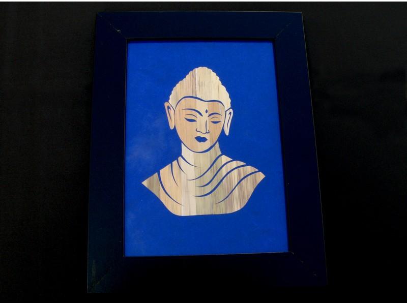 Div33 Cadre Bouddha Décoration Bouddhiste Artisanat Tibet