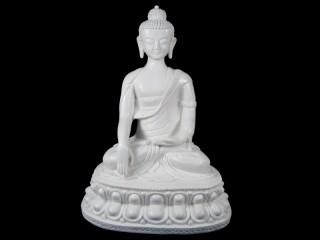 St62 Statue Bouddha Astamangala Signes Auspicieux du Bouddhisme