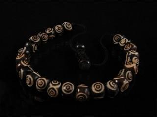 BrMala11 Bracelet Mala de Prières Tibétain Os de Buffle