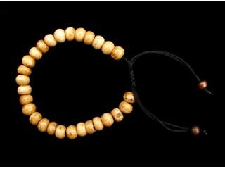 BrMala14 Bracelet Mala de Prières Tibétain Os de Buffle