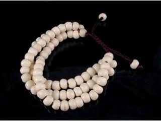 BrMala17 Bracelet Mala de Prières Tibétain Os de Buffle