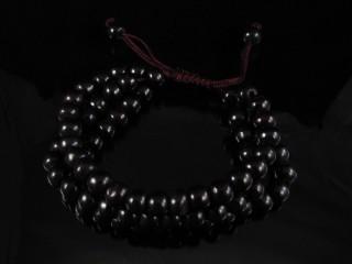 BrMala18 Bracelet Mala de Prières Tibétain Os de Buffle