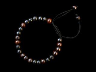 BrMala227 Bracelet Mala de Prières Tibétain Os de Buffle