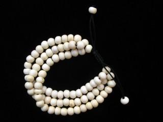 BrMala232 Bracelet Mala de Prières Tibétain Os de Buffle