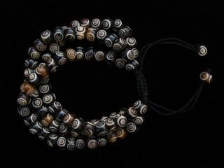 BrMala233 Bracelet Mala de Prières Tibétain Os de Buffle