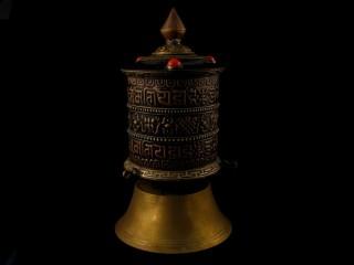 RP69 Moulin à Prières Tibétain Mantra Astamangala