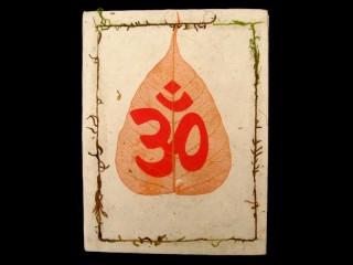 CrA04 Carnet Artisanal Népalais Feuille de Bodhi Om