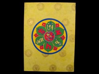 CrA10 Carnet Artisanal Népalais Mantra Om